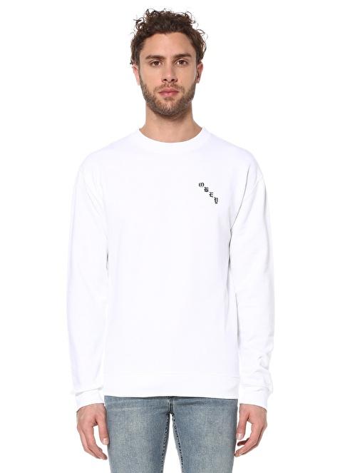 Obey Sweatshirt Beyaz